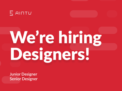 Want to join us? hiring hire search wroclaw aintu senior junior designer post job