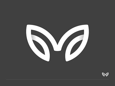 M + leaf type exploration experiment leaf symbol mark identity typography monogram minimal letter branding logo