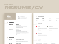 Goldie. Resume / CV template