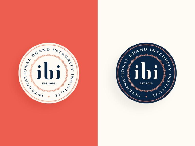 IBI badge international vintage vintage badge vintage logo institute mark letter branding typogaphy logo badge logo badge seal