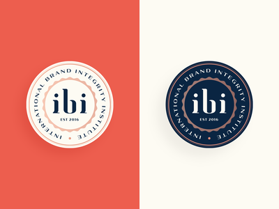 IBI badge international vintage vintage badge vintage logo institute mark letter branding typogaphy logo badge logo badge seal