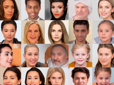 100K AI-Generated Faces design resources after effects motion design
