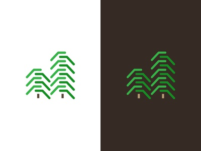 Johnson Environmental Logo Design forest green icon logo natural organic wood tree environmental j tracks