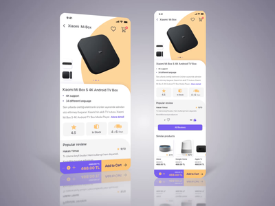 Mobile e-commerce concept UI