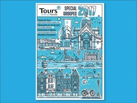 Cover design for visiting Tours ( France )