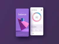 The Balance App dashboard mobile ui responsive 3d product payment ux app banking mobile app mobile layout ui