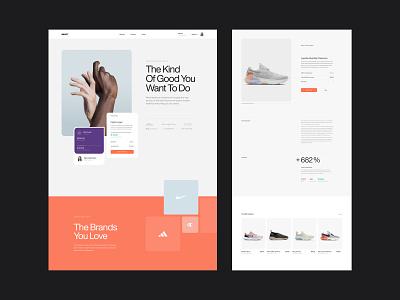 Impact fashion finance fintech sneakers shop eccomerce landing page web product dashboard website app ux