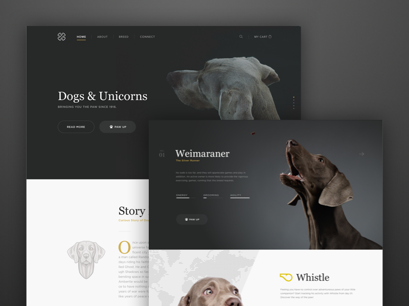 Dogs & Unicorns ux website template fashion e-commerce minimal dashboard ui app clean web