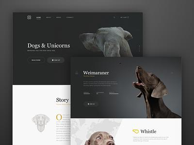 Dogs & Unicorns ux website template fashion e-commerce minimal dashboard ui app clean web