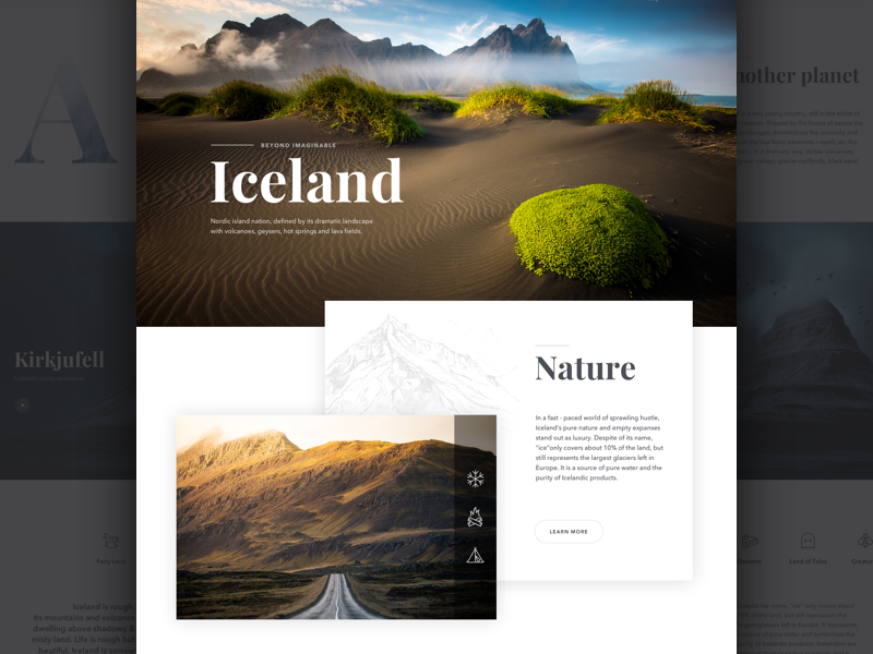Fire & Ice Website layout card ux ui responsive product website landing page clean dashboard app web
