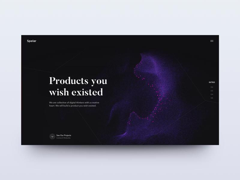 Spelar Website layout card ux ui responsive product website landing page clean dashboard app web