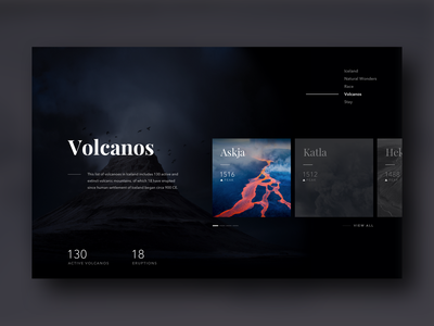Volcanos layout card ux ui responsive product website landing page clean dashboard app web