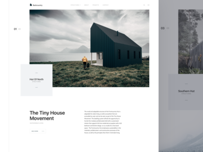 Backcountry Hut Co layout card ux ui responsive product website landing page clean dashboard app web