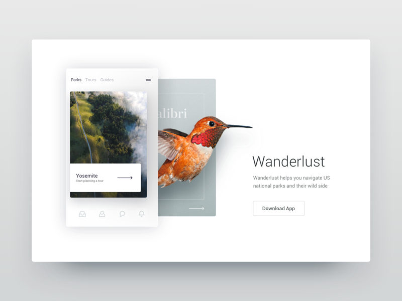 Wanderlust layout card ux ui responsive chart website web clean dashboard app dash
