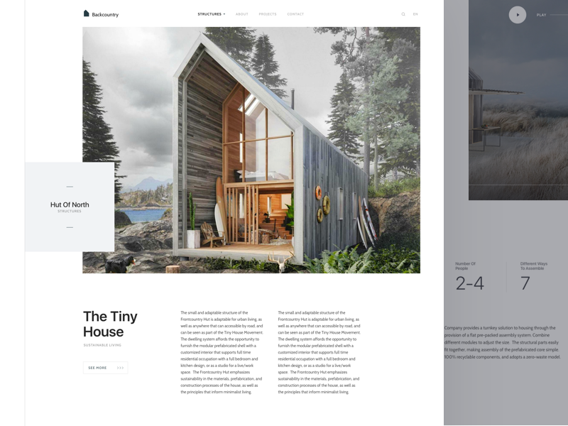 Hut Of North layout card ux ui responsive product website landing page clean dashboard app web