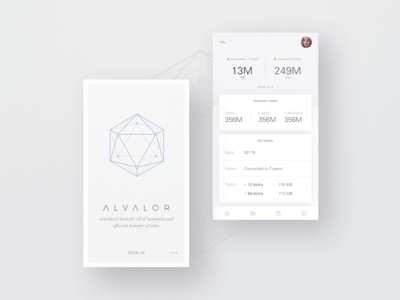 Alvalor Wallet layout card ux ui responsive product website landing page clean dashboard app web