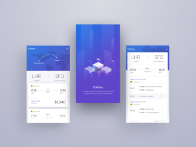 Callisto App layout card ux ui responsive product website landing page clean dashboard app web