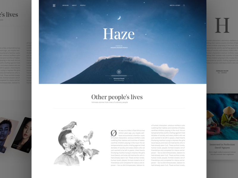 Haze minimal clean web app landing page product layout responsive dashboard website ux ui