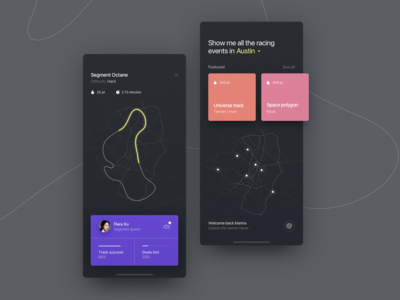 Underground races typography vector design minimal card product illustration ui ux layout app clean