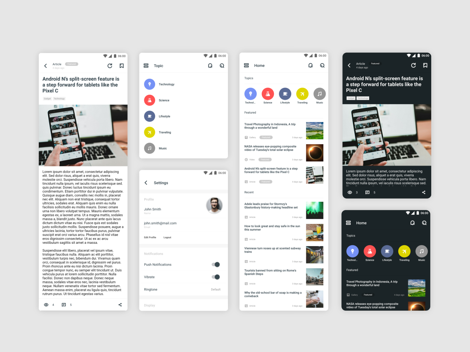 Notch - Android News Application by muslim sidiq on Dribbble