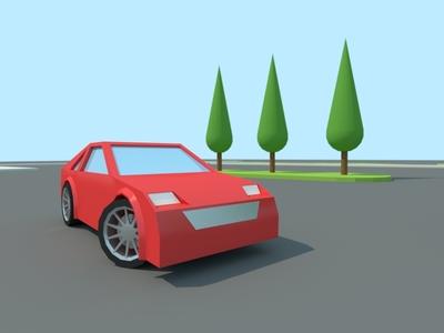 Sportscar with Rims car rims race 3d landscape