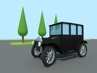 Oldtimer oldtimer car landscape game