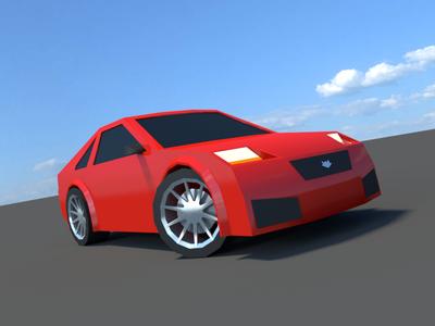 Japan Drifter front vintage clean design flat 3d modeling drifter road lowpoly racecar blender
