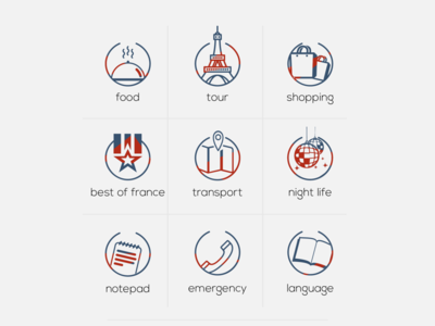 Icon designed for French Travel App