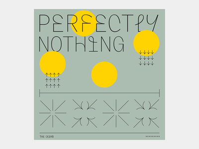 Perfectly Nothing - Cover design cover artwork artwork spotify cover typogaphy cover