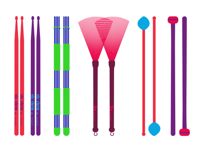 My Drum Sticks icon projects personal color mallets cymbal brush classic sticks music drum