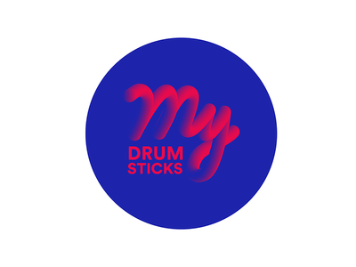 My Drum Sticks classic brush icon logo sticks projects personal music mallets drum cymbal color