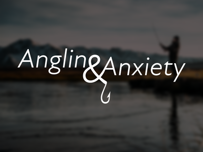 Angling & Anxiety Identity sketchapp youtube logo logotype logo design logo youtube youtube channel mentalhealth mental health awareness mental health anxiety angling svg branding design sketch