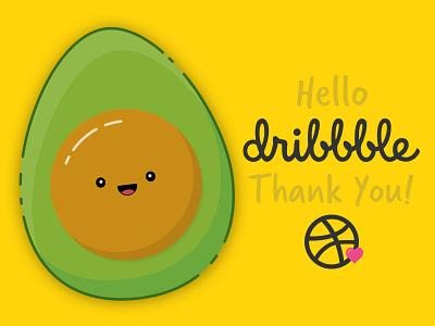 Happy Avocado - Hello Shot sketch invited illustration mbe happy avocado debut