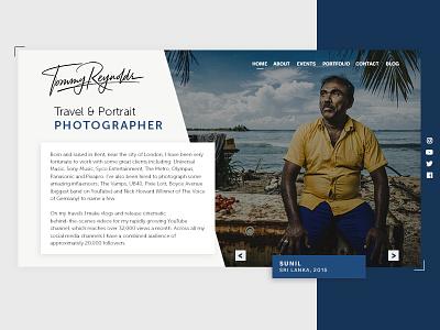 Tommy Reynolds Photography v4 angles layout website yellow grey blue portfolio photography portfolio photographer photography