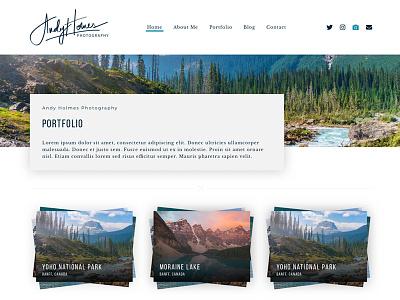 Andy Holmes Photography - Portfolio ui ux photographer photography sketch website website design portfolio photography portfolio