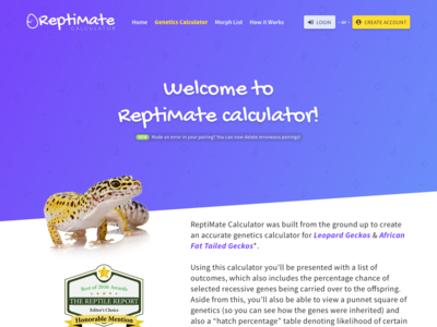 Reptimate Genetics Calculator v2