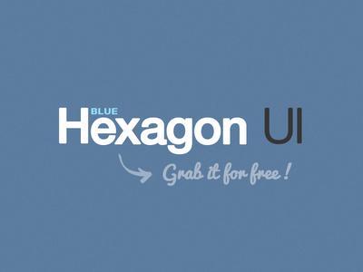 Hexagon BLUE - Free UI Kit