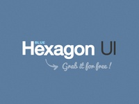 Hexagon BLUE - Free UI Kit