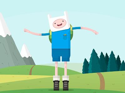 The Flat Dudes | Finn finn adventure time adventuretime flat illustration jake landscape flatdudes
