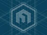 Square logo blueprint