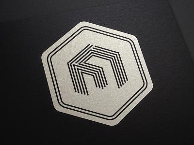 Square logo final square logo brand branding print black white line cube