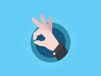 Satisfaction Guaranteed [icon] icon hand good okay satisfaction blue