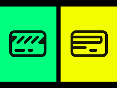 Credit card icon exploration artwork stripe illustration payment yellow green line card icon