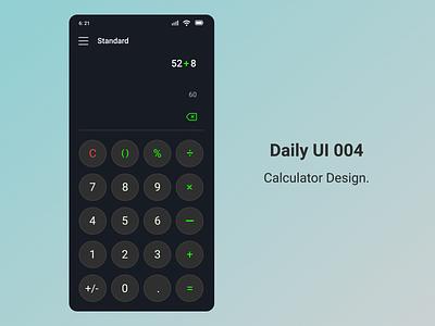 Calculator design. 004 appdesign dailyui ui