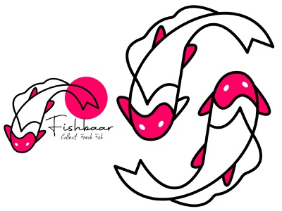 Sushi logo from start to fishing baar modern treanding logo logodesign restaurant catch wildlife river icon nature animal water fish fishing seafood fisherman brandidentity creativelogo modern branding