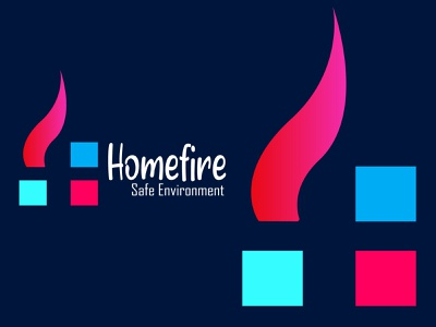 House fire trending summer logo and icon design home and fire gradient company logo home logo house logo environment safe home logo design icon summer trending fire app logo modern logo house branding brand identity