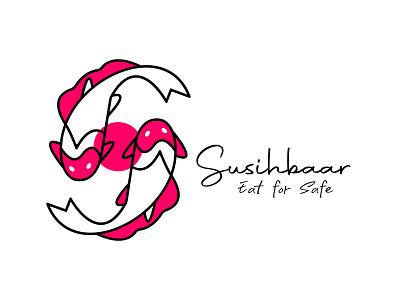 Sushi logo from start to Sushi baar modern trending logo V.2 logotype brand identity brand logo sushi logo for brand colorful logo trending crypto graphic design logoinspirations summer eating fish logodesigne resturent illustration modern creativelogo icon branding