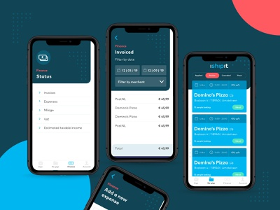 💵 iShipit finance pages ux clean design layout app ui flat startup delivery app delivery invoices money finance