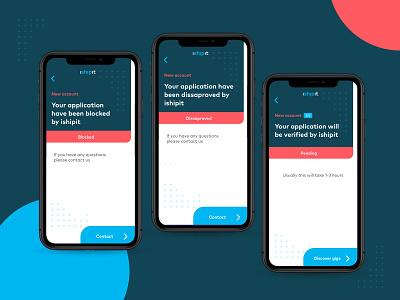 🚨 iShipit forgot errors simple ux design branding type ui flat app delivery app delivery startup error message errors