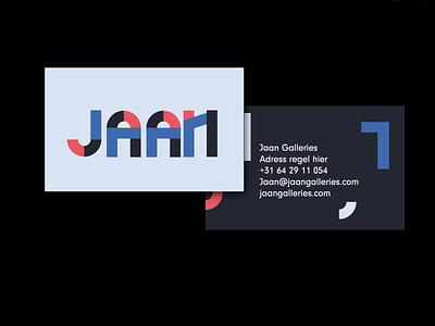 Jaan identity icon typography branding logo type